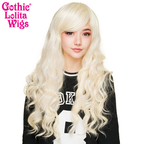 Gothic Lolita Wigs® <br> Classic Wavy Lolita™ Collection - Platinum Blonde- 00466