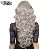 "Cosplay Wigs USA™ <br> Curly 70cm/28"" - Silver -00311"