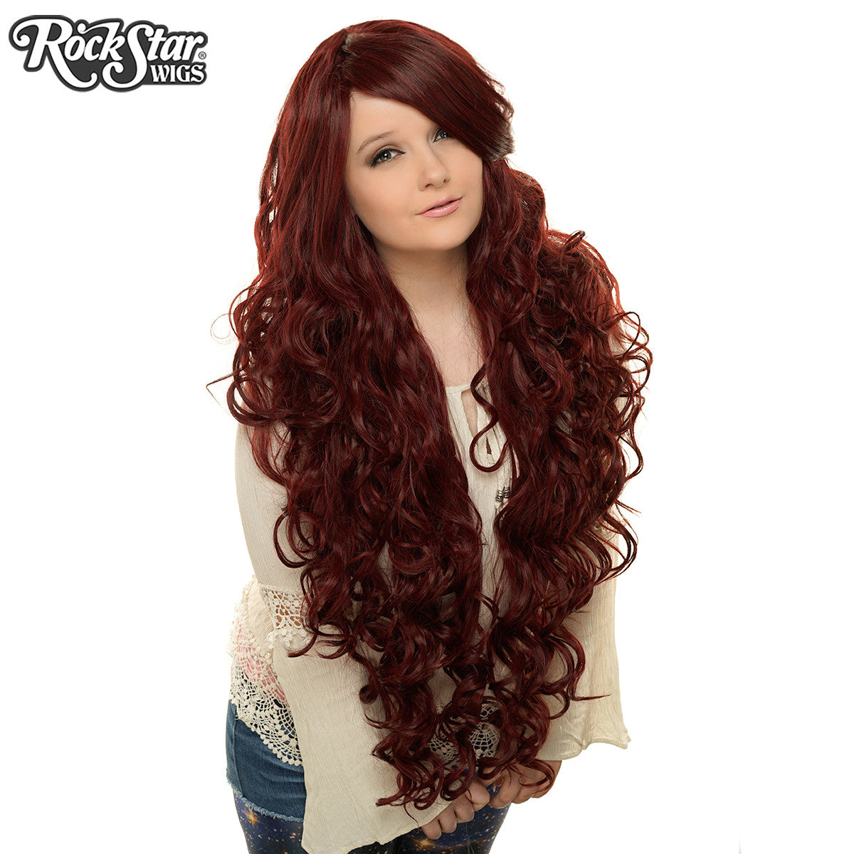 "Cosplay Wigs USA™ <br> Curly 90cm/36"" - Burgundy -00320"
