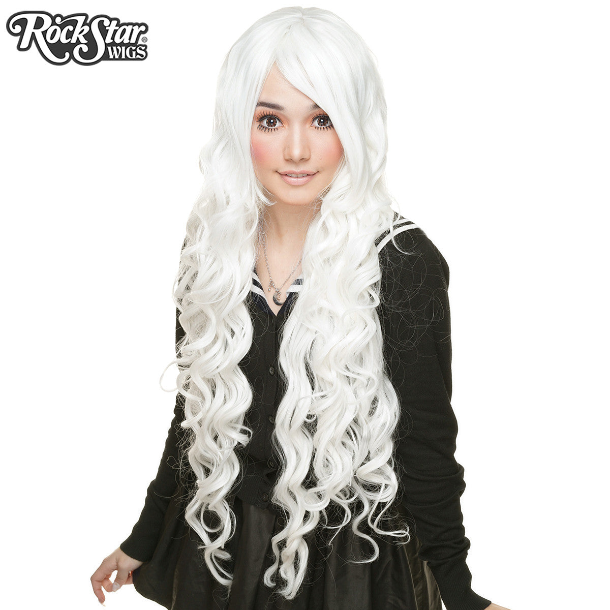 "Cosplay Wigs USA™ <br> Curly 90cm/36"" - White -00336"