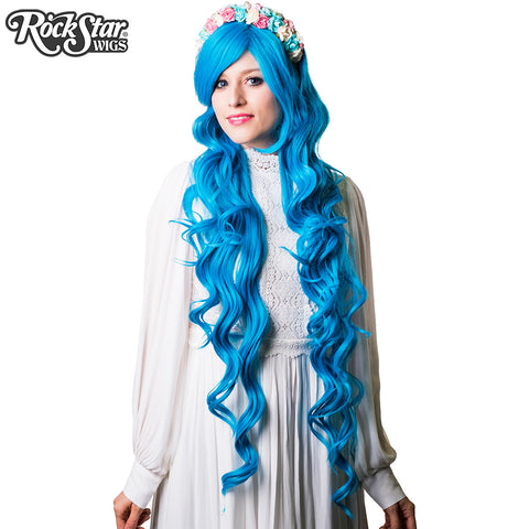 "Cosplay Wigs USA™ <br> Curly 90cm/36"" - Sky Blue -00334"