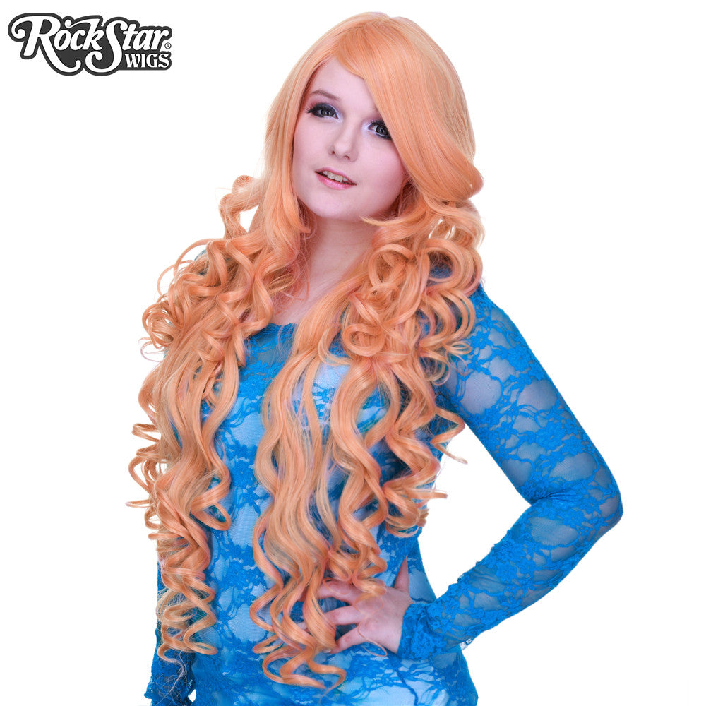 "Cosplay Wigs USA™ <br> Curly 90cm/36"" - Dusty Pink -00323"