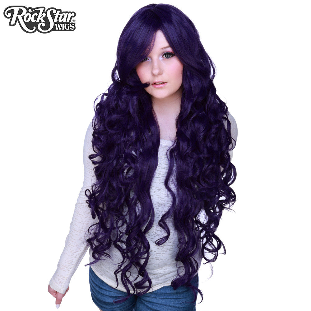 "Cosplay Wigs USA™ <br> Curly 90cm/36"" - Purple Black -00331"