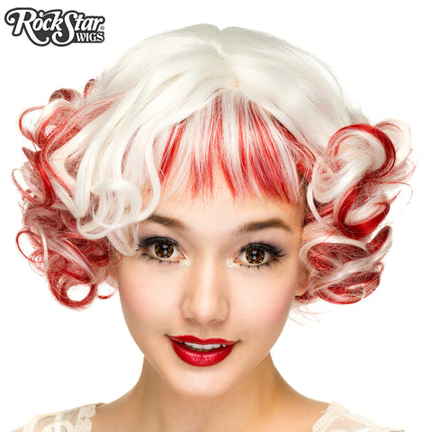 Gothic Lolita Wigs® <br> Curly Bob™ - 00022 Red & White Blend