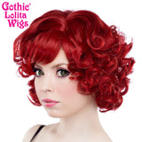 Gothic Lolita Wigs® <br> Curly Bob™ - 00020 Crimson Red
