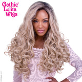 Lace Front Curly Dark Roots - Light Medium Blonde Mix -00562