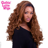 Lace Front Curly Dark Roots - Brown -00563