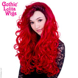 Lace Front Curly Dark Roots - Red -00566