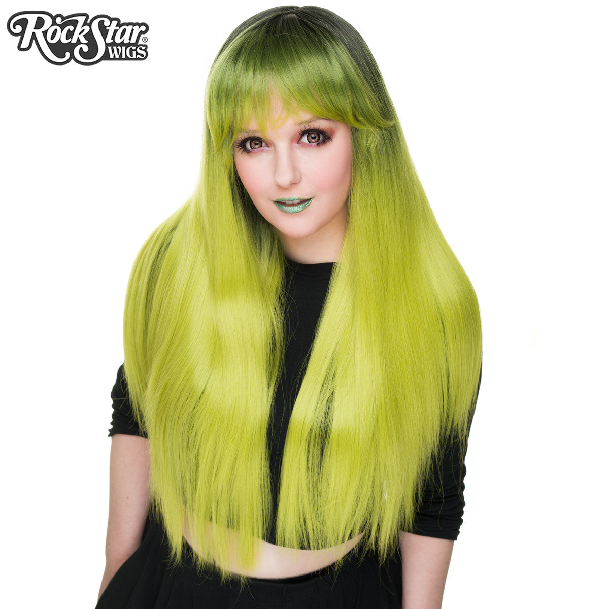 RockStar Wigs®  Bella Dark Root™ Collection -Lime Green -00519