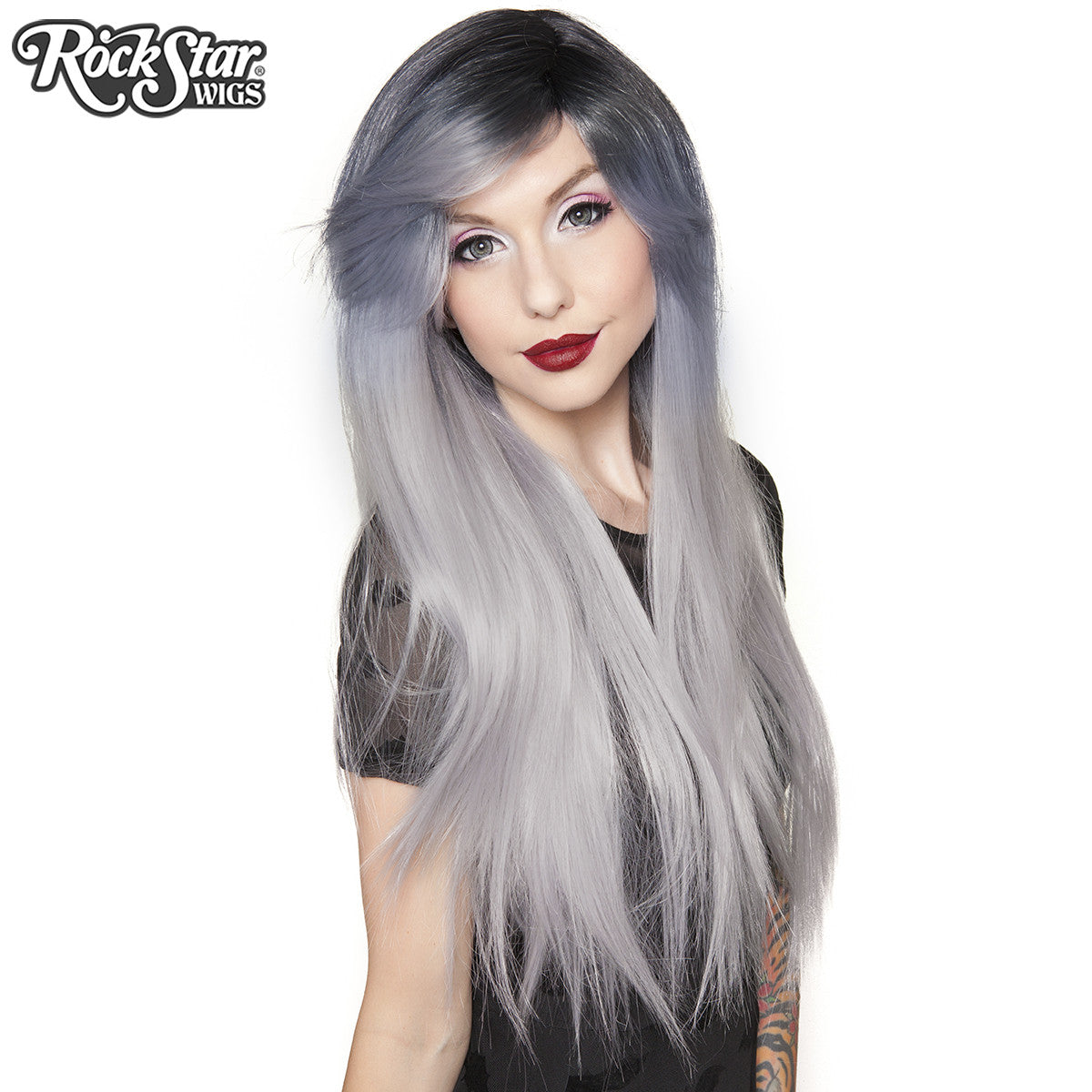 RockStar Wigs®  Bella Dark Root™ Collection - Silver -00056