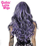 Gothic Lolita Wigs® <br> Duplicity™ Collection - Creepy Cutie Patootie (Lavender/Black Blend) -00025