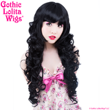 Long Curly Black Wig blunt Bangs fringe Gothic Lolita Wigs Store pixie_late