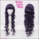 Gothic lolita wigs store violet dark purple long curly elodie