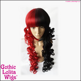 Gothic Lolita Wigs Black Red Split Stock Photo