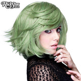 "RockStar Wigs® <br> Hologram 12"" - Dark Mint Mix 00658"
