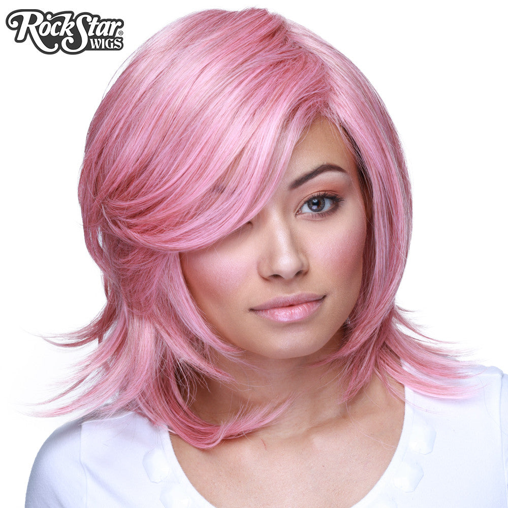 Cosplay Wigs USA™ <br> Boy Cut Shag - Milkshake Pink -00295