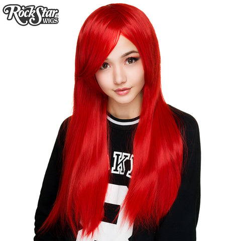 "Cosplay Wigs USA™ <br> Straight 70cm/28"" - True Red -00343"