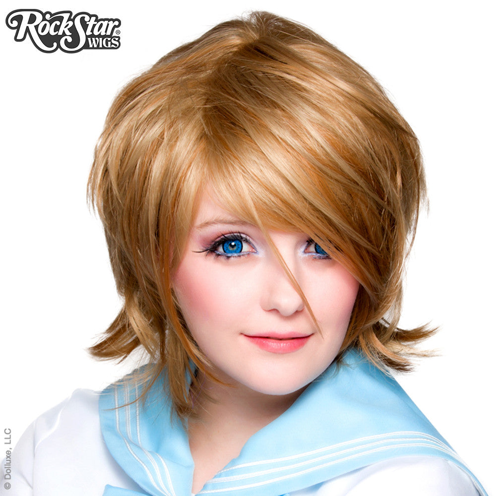 Cosplay Wigs USA™ <br> Boy Cut Long - Milk Tea -00280