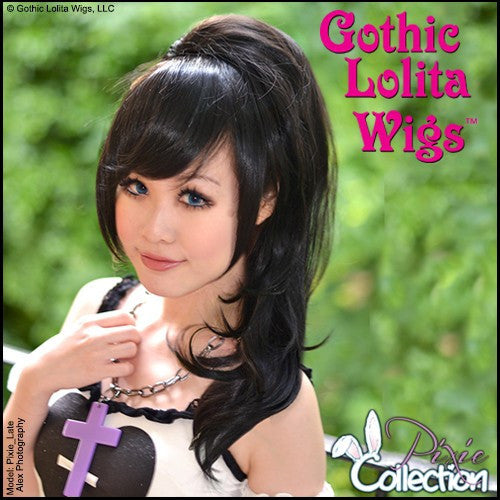 Gothic Lolita Wigs®  Pixie™ Collection - Ponytail 2 (Black)