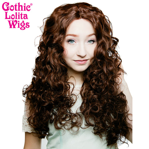 "Lace Front 25"" Long Curly - Chocolate Brown - 00777"