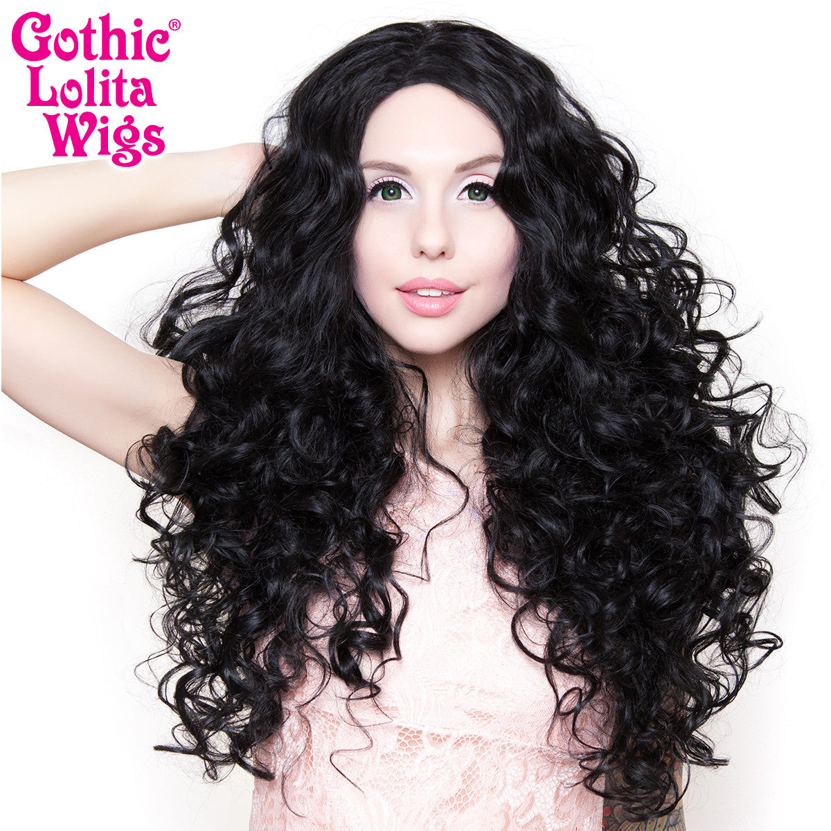"Lace Front 25"" Long Curly - Jem Black - 00779"
