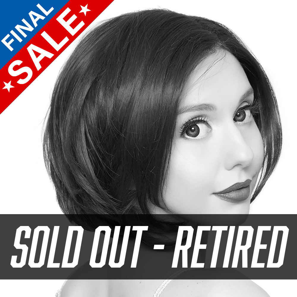 **RETIRED** Lace Front Dainty Bob - Black Rose -00759