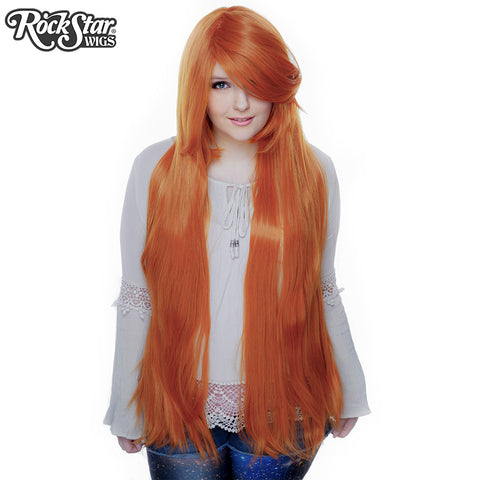 "Cosplay Wigs USA™ <br> Straight 100cm/40"" - Orange -00356"