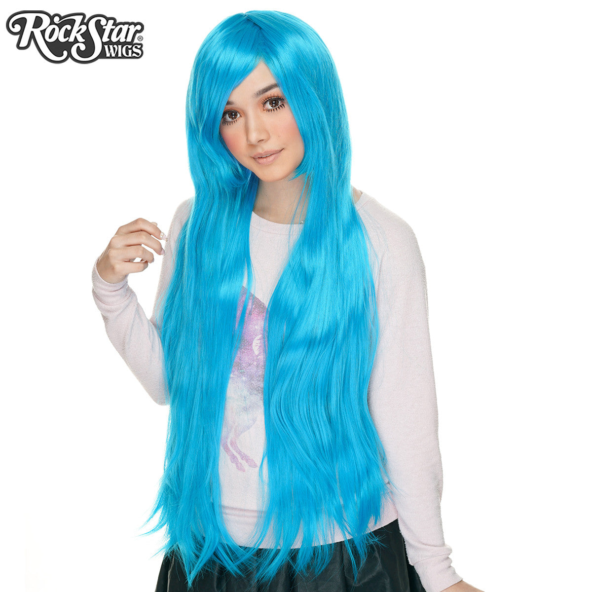 "Cosplay Wigs USA™ <br> Straight 100cm/40"" - Sky Blue -00360"