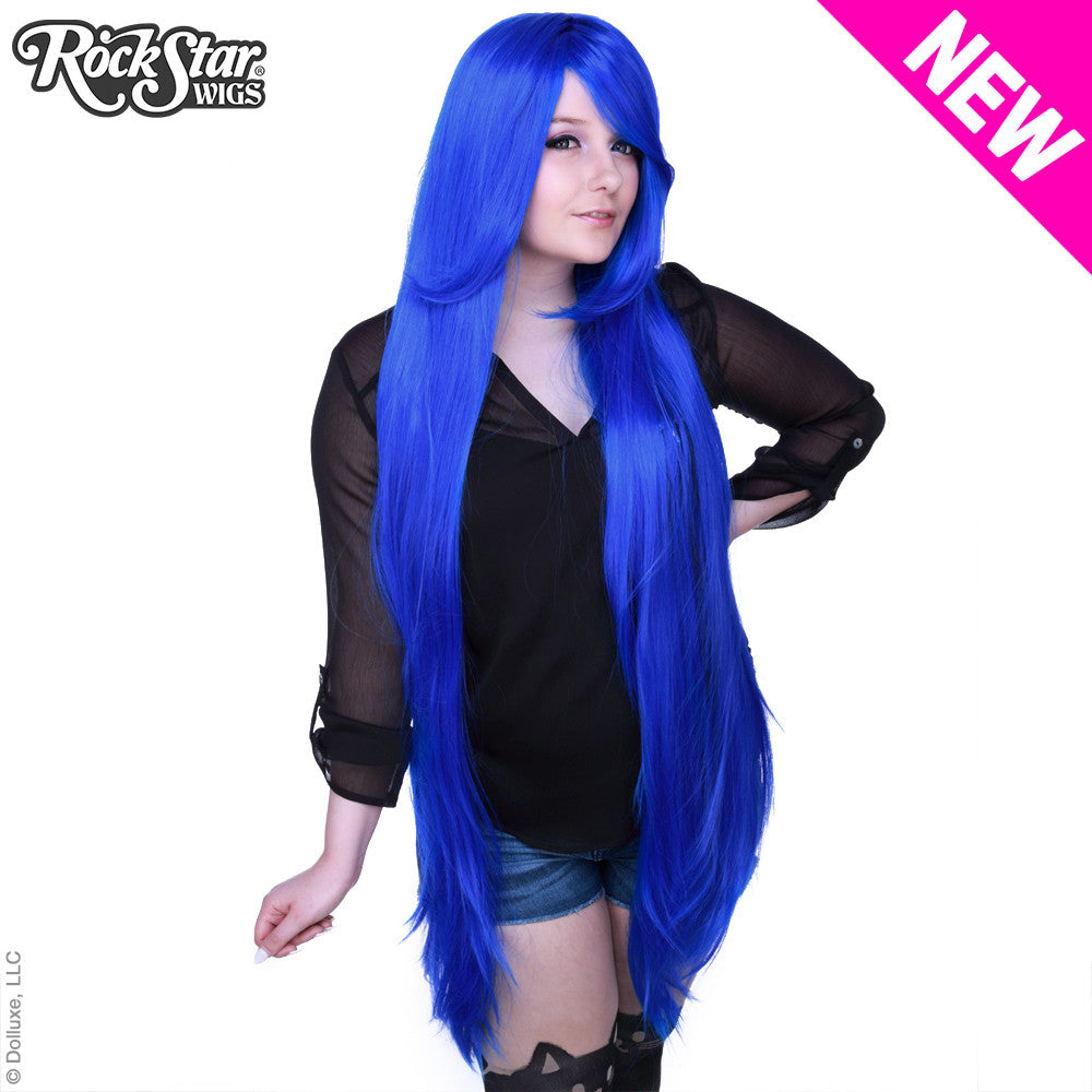 "Cosplay Wigs USA™ <br> Straight 120cm/47"" - Blue -00484"