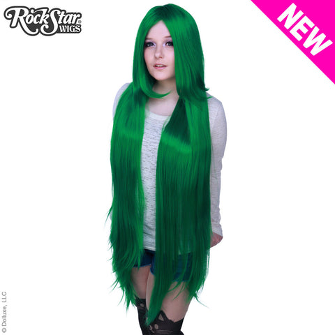 "Cosplay Wigs USA™ <br> Straight 120cm/47"" - Emerald Jade Green -00482"