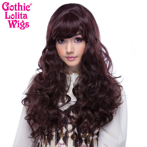 Gothic Lolita Wigs® <br>Ulzzang Collection - Black Mahagony Burgundy Mix -00407