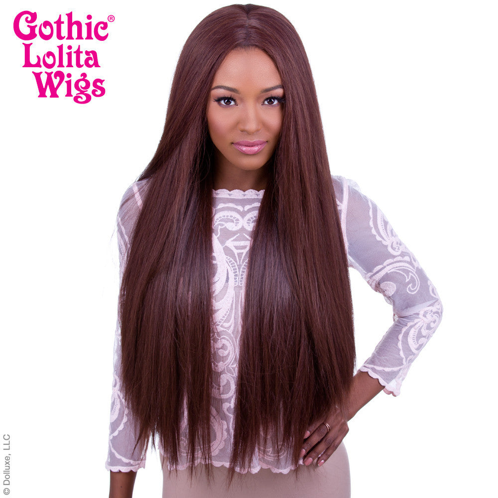 "Lace Front Yaki Straight 32"" - Chocolate Brown Mix- 00540"