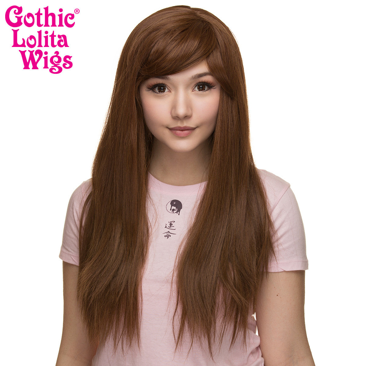 Gothic Lolita Wigs®  Bella™ Collection - Golden Chestnut Brown Mix -00424