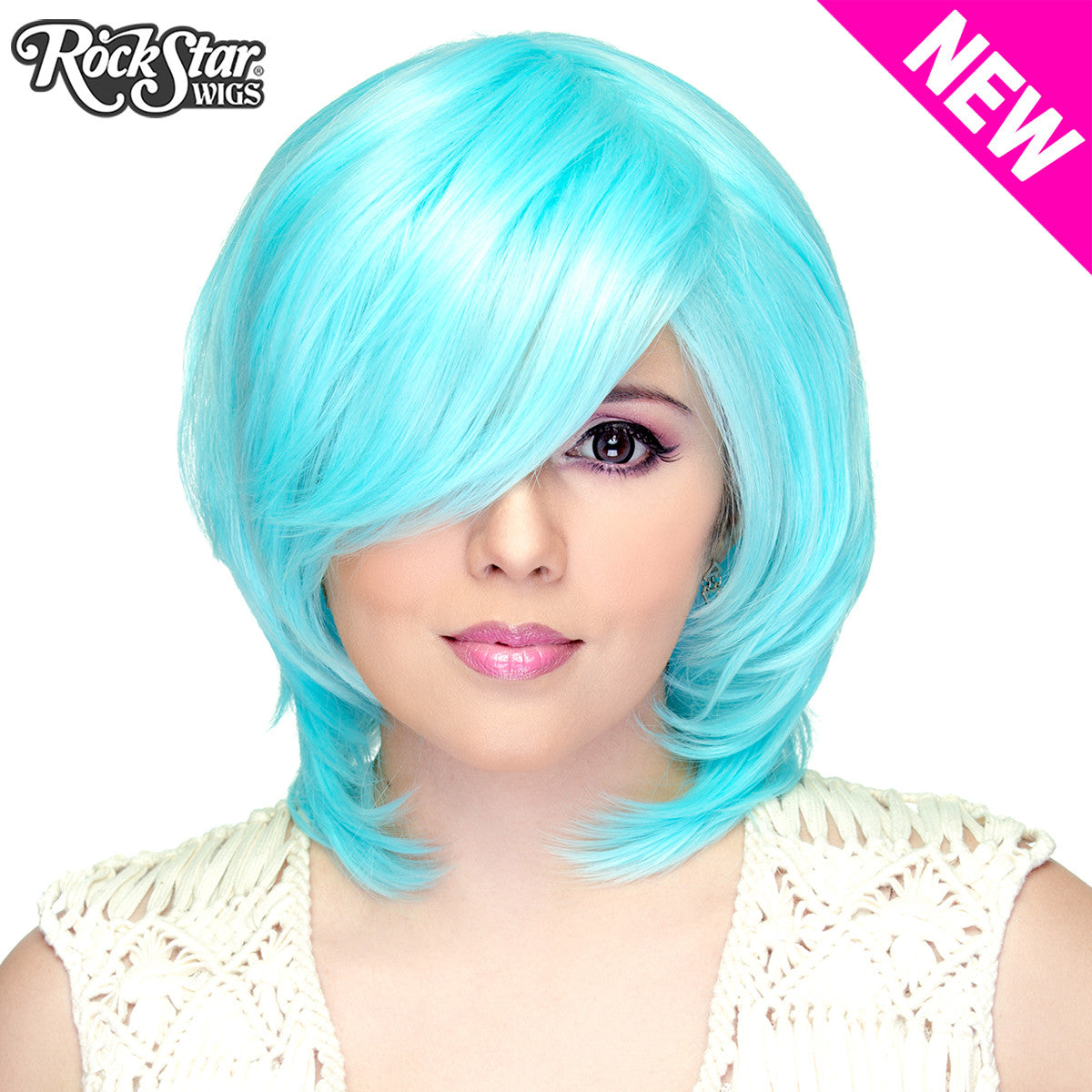 Cosplay Wigs USA™ <br> Boy Cut Short Shag - Baby Blue -00517