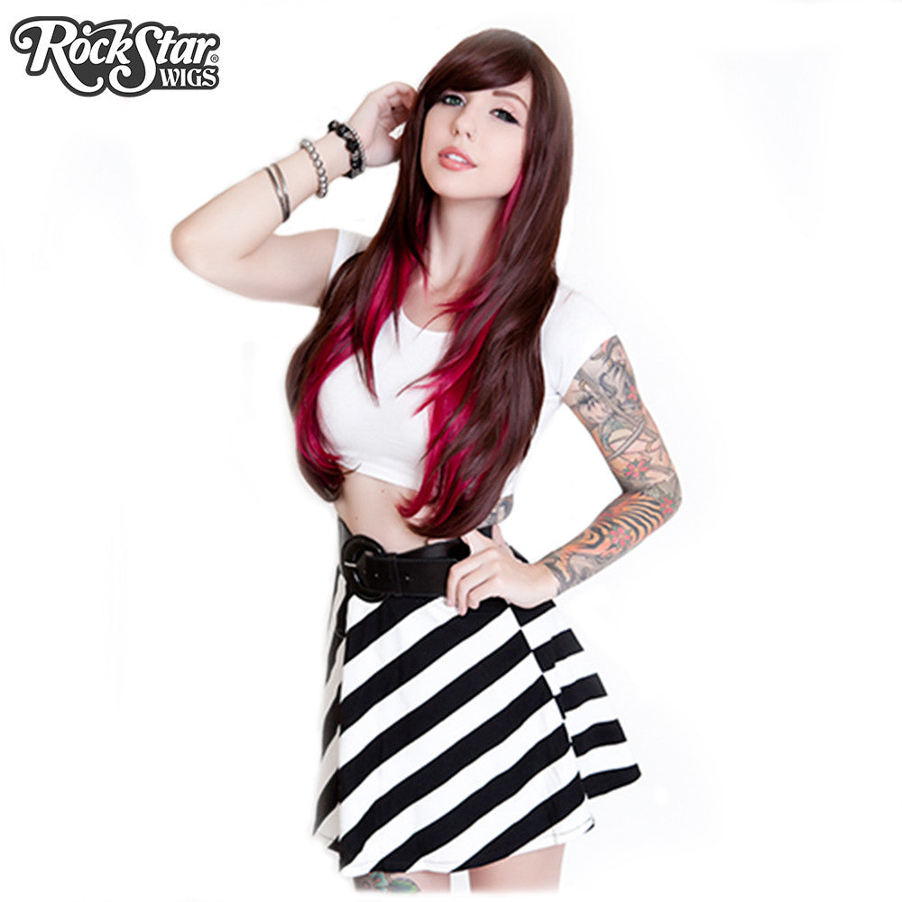 RockStar Wigs® <br> Downtown Girl™ Collection - Chocolate & Burgundy- 00151