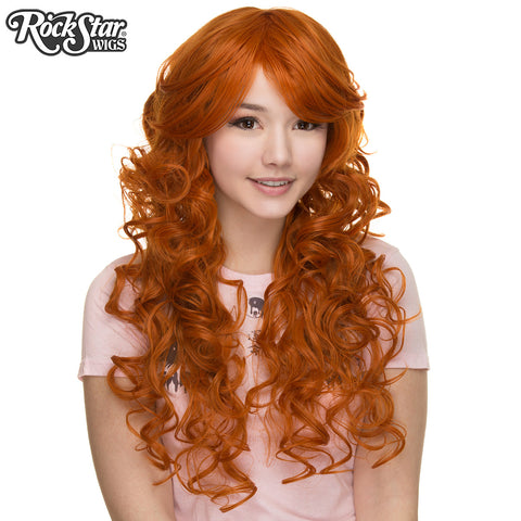 "Cosplay Wigs USA™ <br> Curly 70cm/28"" - Copper Pumpkin Orange -00309"