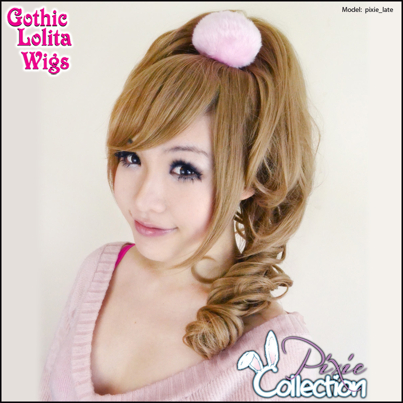 Gothic Lolita Wigs® <br> Pixie™ Collection - Ponytail 1 (Milk Tea) -00087