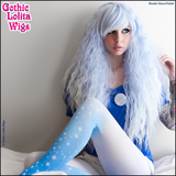 Authentic RHAPSODY Gothic Lolita Wigs long light blue sax ombre fade white