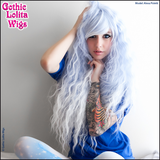 Genuine RHAPSODY Gothic Lolita Wigs long light baby blue sax ombre fade white mermaid