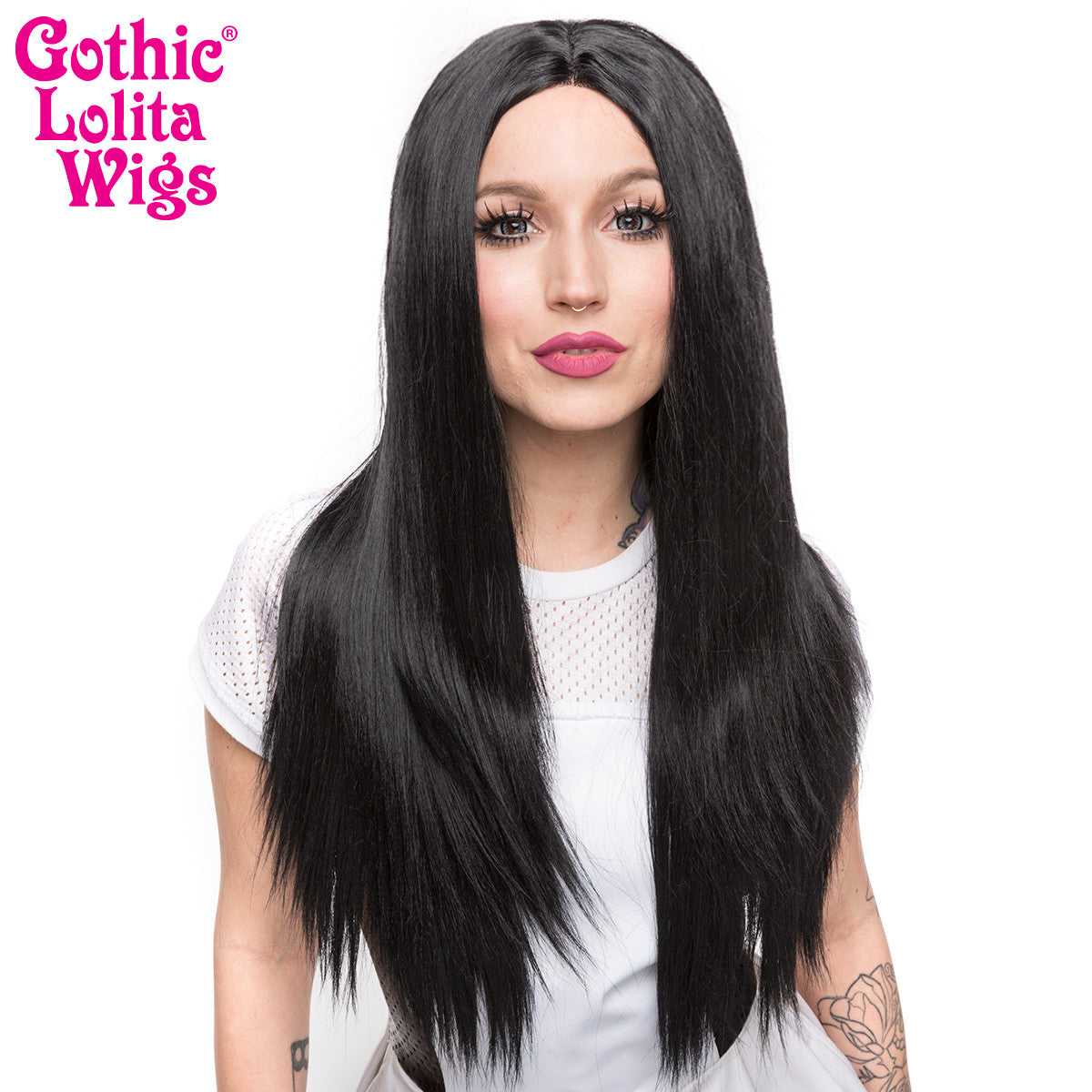 "Lace Front 26"" Yaki Straight - Jem Black - 00783"