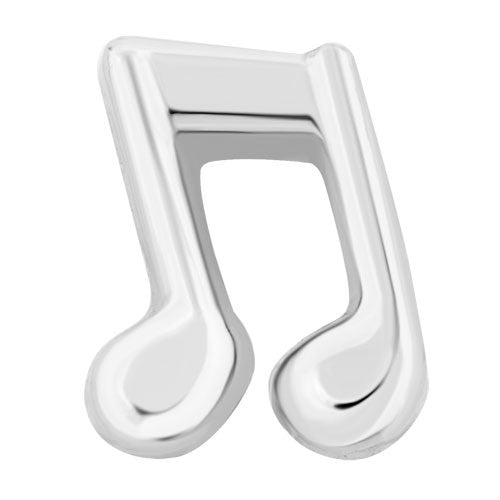 Silver Music Notes Charm