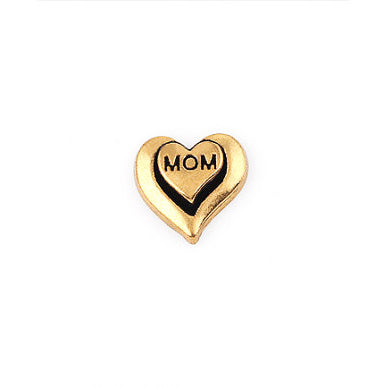 Gold Mom Heart Charm