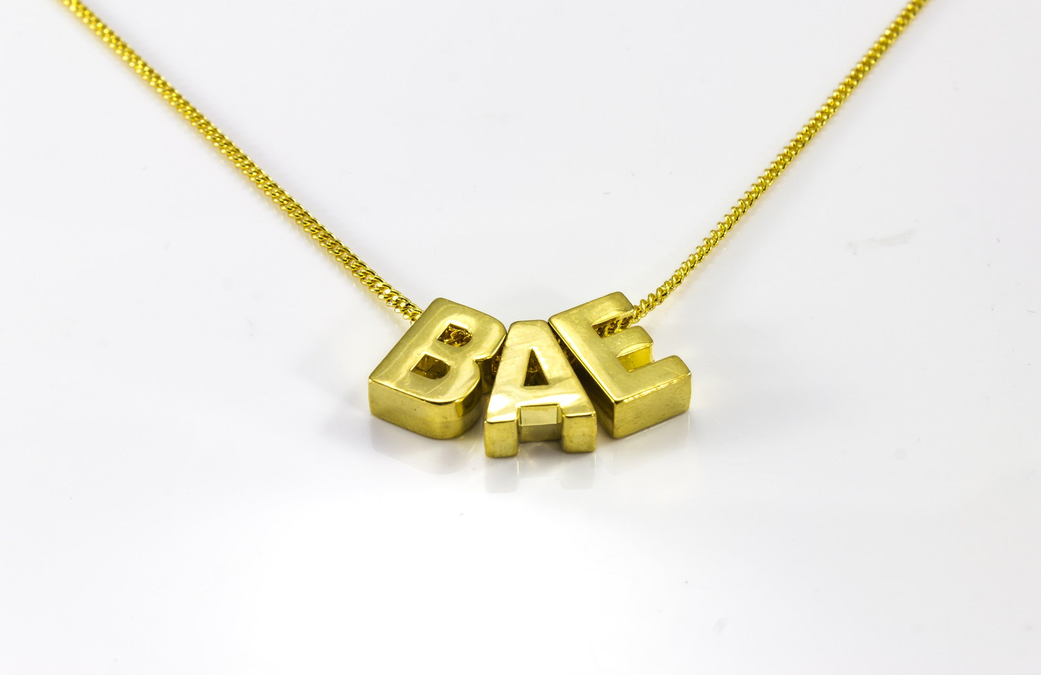 Gold Dainty Letter Inital Necklace With 2 Letters BG247®