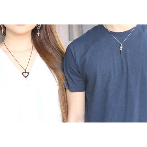 His & Hers Matching Couple Necklaces