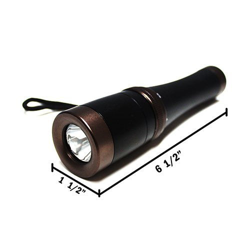 "Rechargeable Power Style LED Focalize Q5 Cree LED Flashlight 6 1/2"" Long - AF5030"