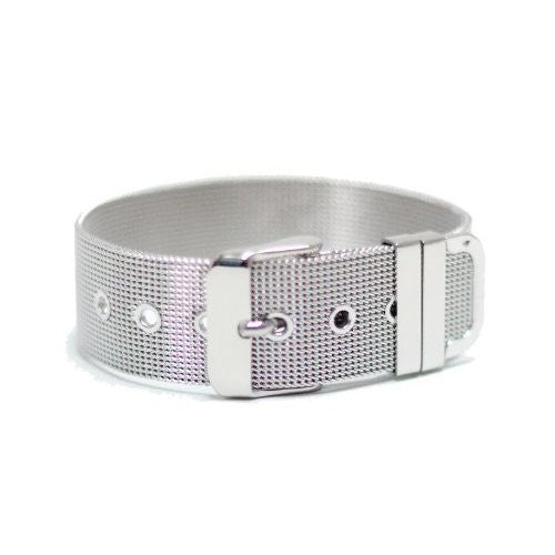 Stainless Steel Wristband 18MM (Great for Slider Letters/Charms)