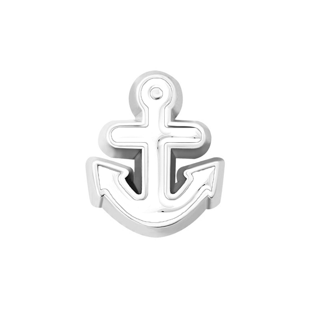 White Anchor Charm