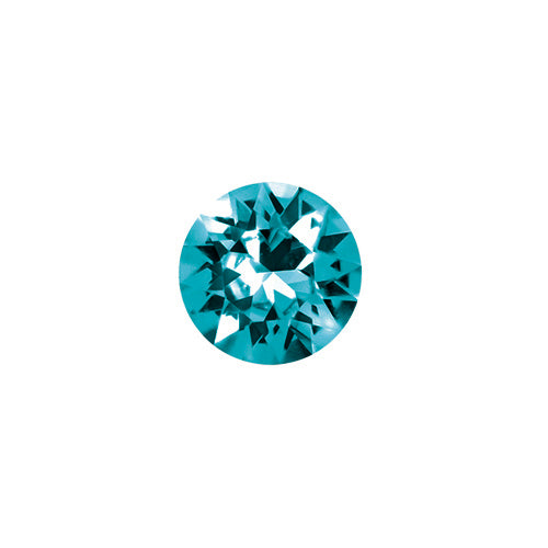 December Round Crystal Birthstone - Blue Zircon