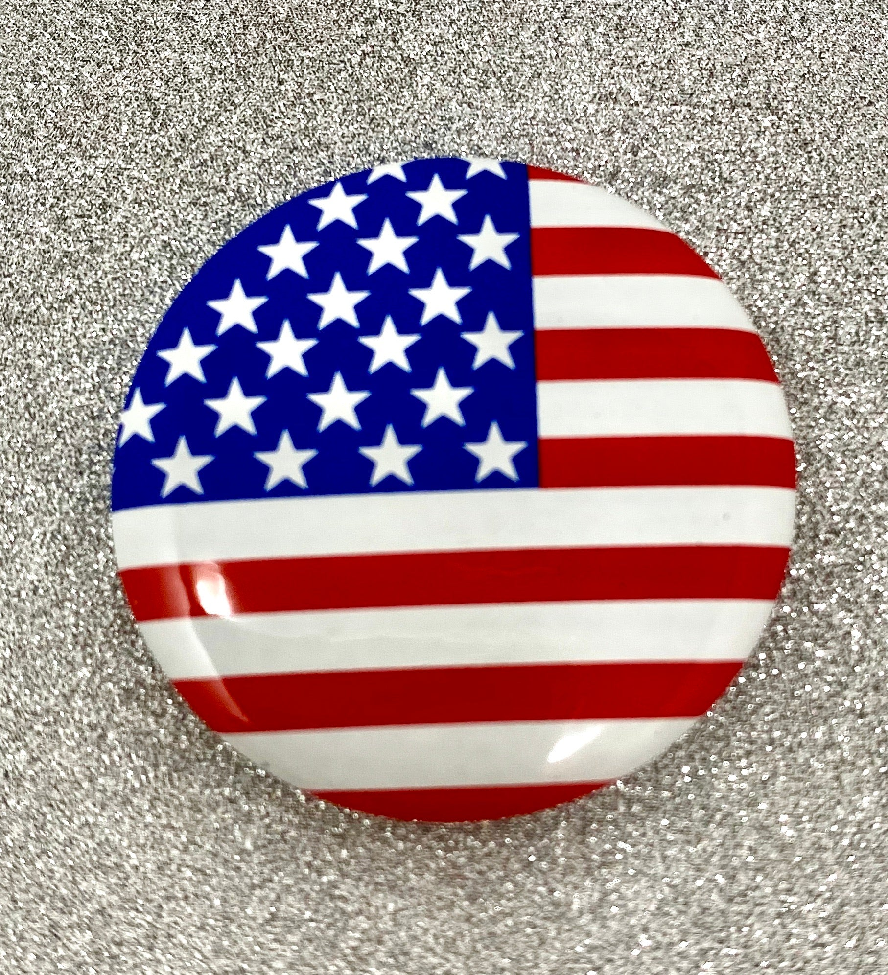 USA Flag Pins - Pin Back Buttons (Set of 12)