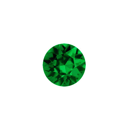 May Round Crystal Birthstone - Emerald